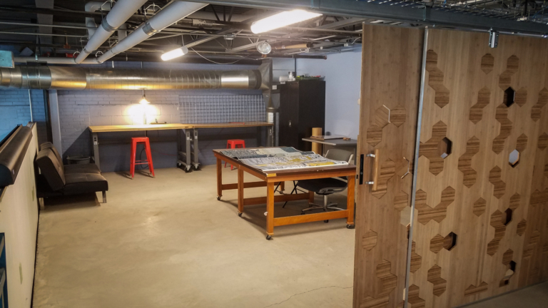 View of the Researcher in Residence Studio at the IMRC Center