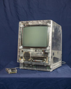 Modded old apple computer in clear case