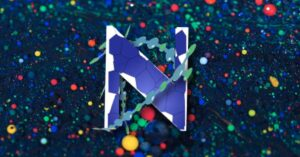 Screenshot from NeurAutoMeta. The letter N on an abstract background.