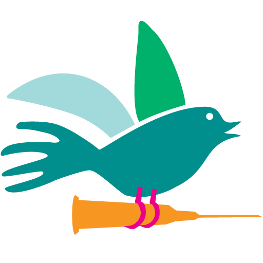 bird carrying a vaccination